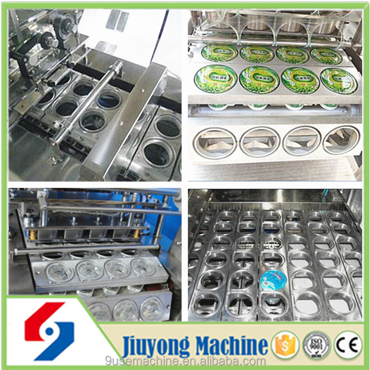 double lanes 3 lanes 4 lanes cup soybean milk automatic filling and sealing machine