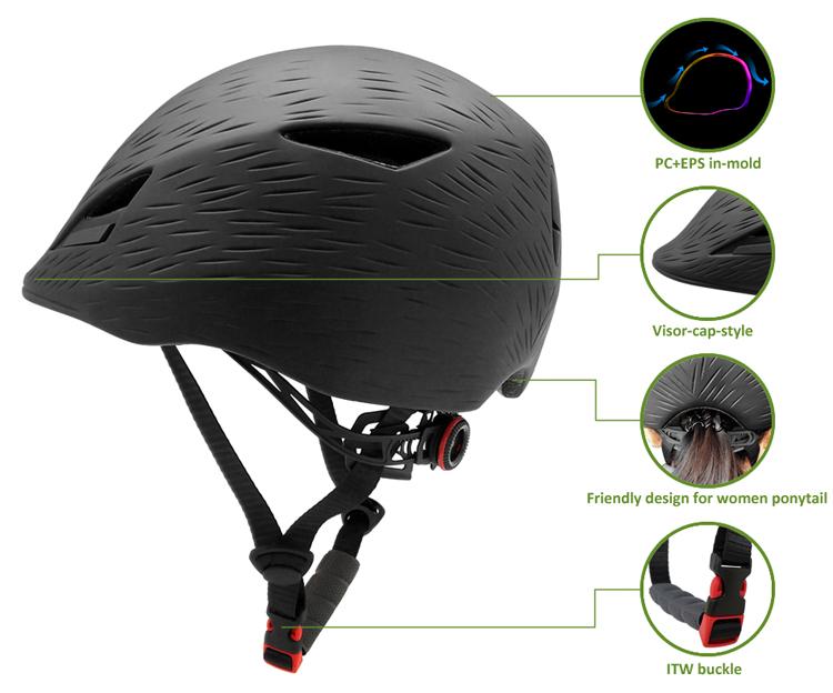 In-mold fashion urban cycling helmet 7