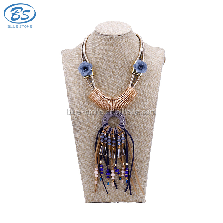 MX038M Top quality and fashion boho jewelry Necklace, vintage big real handmade necklace with crystal stone