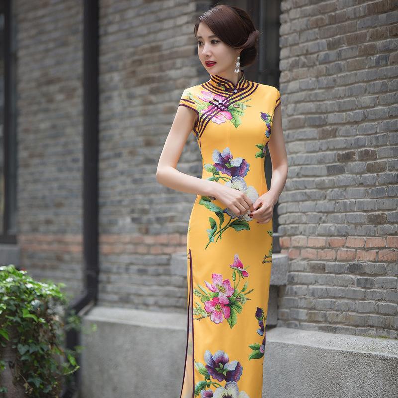 Online Kaufen Großhandel blau cheongsam kleid aus China ...