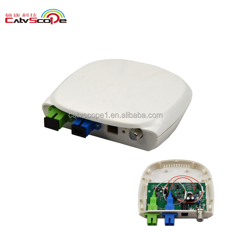 catvscope housing indoor cheap high quality CSP-1000WD FTTH CATV Optical mini node with WDM pon one way