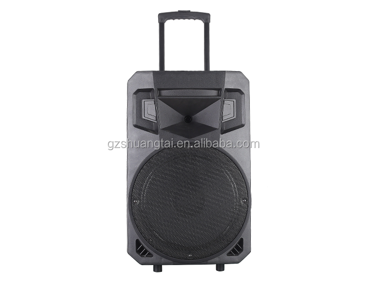 "Rechargeable trolley speaker 4500W 18"" super pa speaker system and pa outdoor stage speakerbig capacity rechargeable battery"