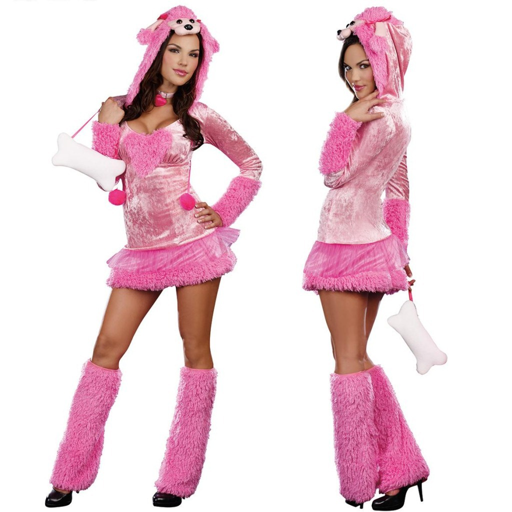 free shipping halloween costume pink bobbi royal dog clothing crazy party nightclub stage cosplay costumes hc391