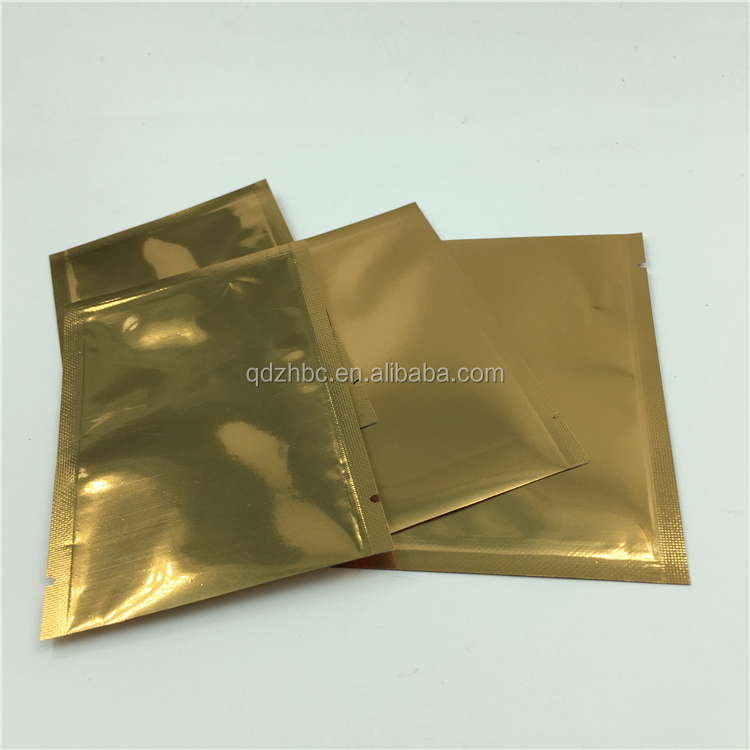 Custom printed plastic facial mask packaging bag cosmetic aluminum foil packaging