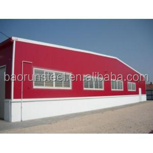 prefabricated steel structure workshop/warehouse/building with high quality material and plans