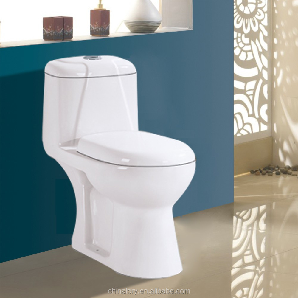 S-trap Drainage Pattern and Dual-Flush Feature White Toilet