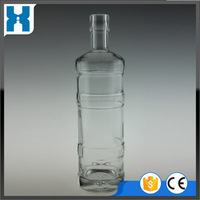 Top grade promotional rushing glass brandy bottles for sale