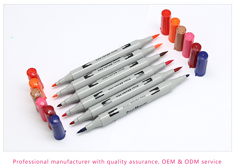 Good quality fneliner watercolor dual tip brush pen for art creation