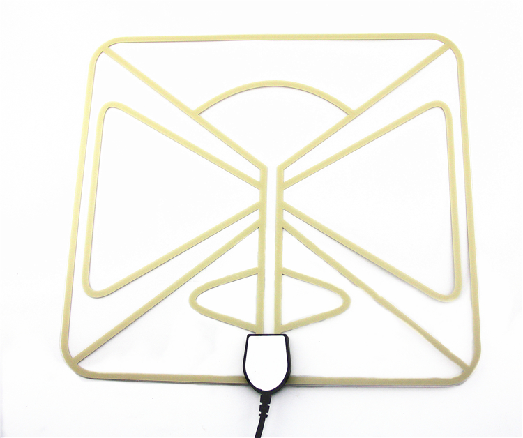 indoor digital 35 miles VHF 230 UHF 862 MHz HDTV antenna for 4k output television with receiver