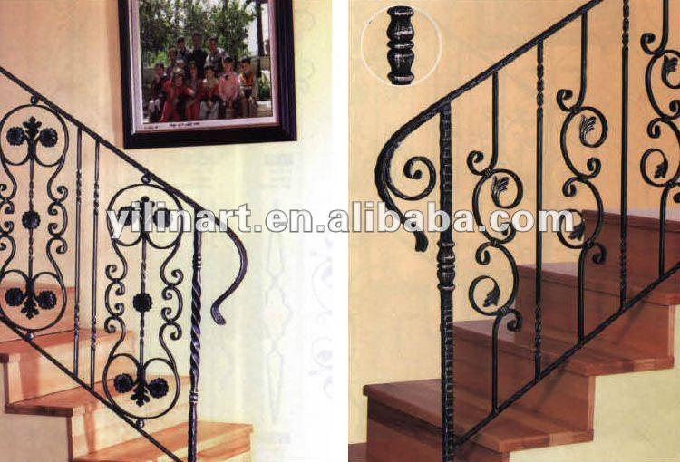 Indoor outdoor forjado barandilla de escaleras de hierro fundido ...