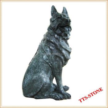 Antique Stone Wolf Statue