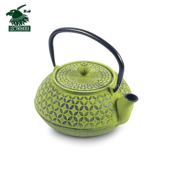 2017 color assorted food grade antique iron cast teapot