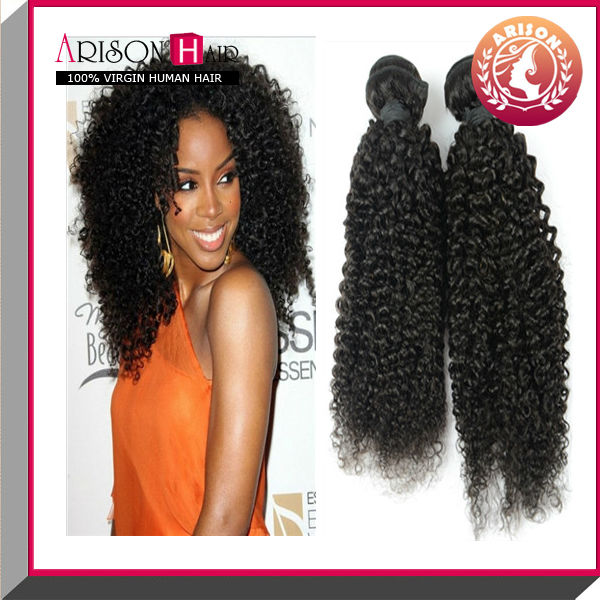 Unprocessed virgin mongolian afro kinky curly human hair extention
