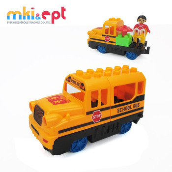 Hot selling kids electric yellow school bus toy with light and music