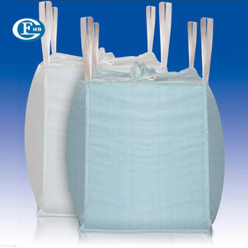 China Skirt Top Circular Polypropylene 1 Tonne Bags For Soil Cement Minerals