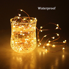 Fairy String Lights Battery Operated Waterproof 40 LED String Lights Copper Wire Firefly Lights for Wedding Festival Decor