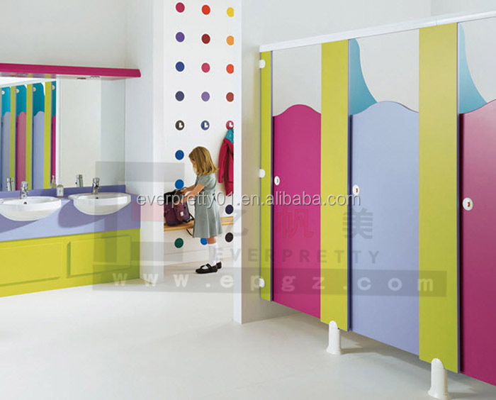 School Furniture for Children Compact Bathroom Partition