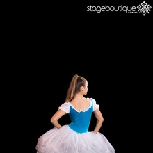2017 Coppelia Aqua Blue White Romantic Giselle Dance Ballet Costume tutu skirt
