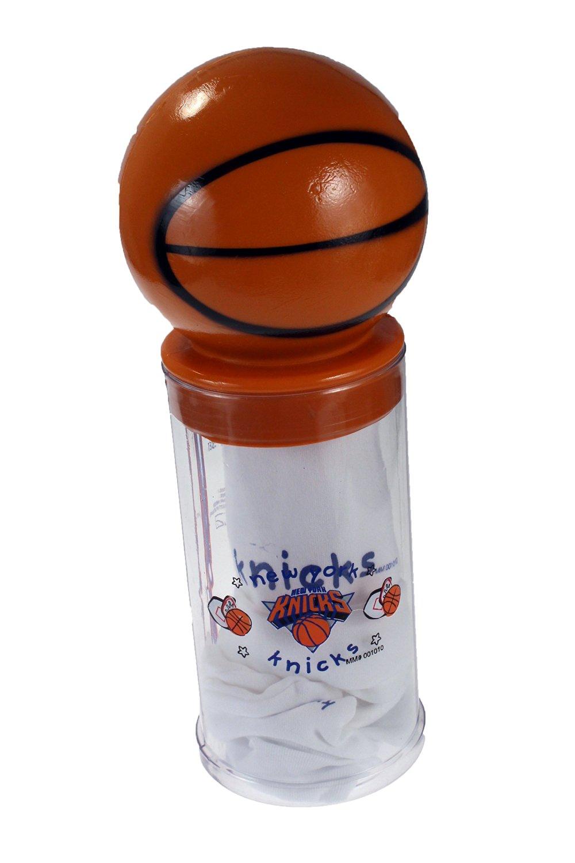 New York Knicks NBA Baby Boys Newborn Basketball Bank Gift Set