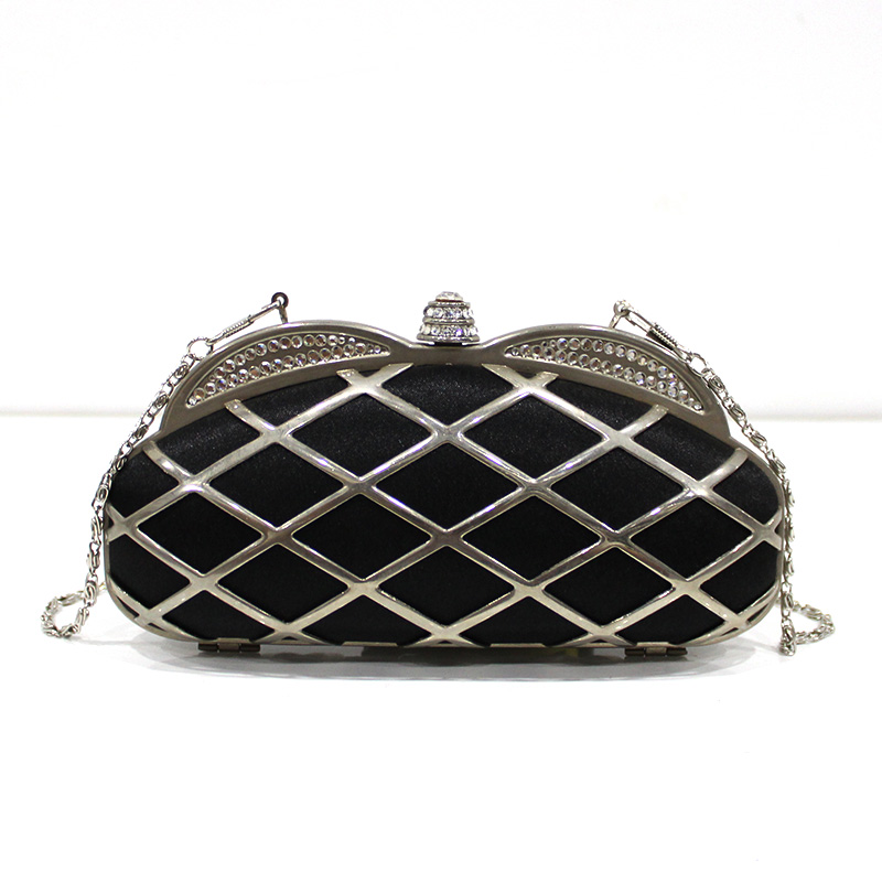 Cheap superior material fancy clutch bags for women black