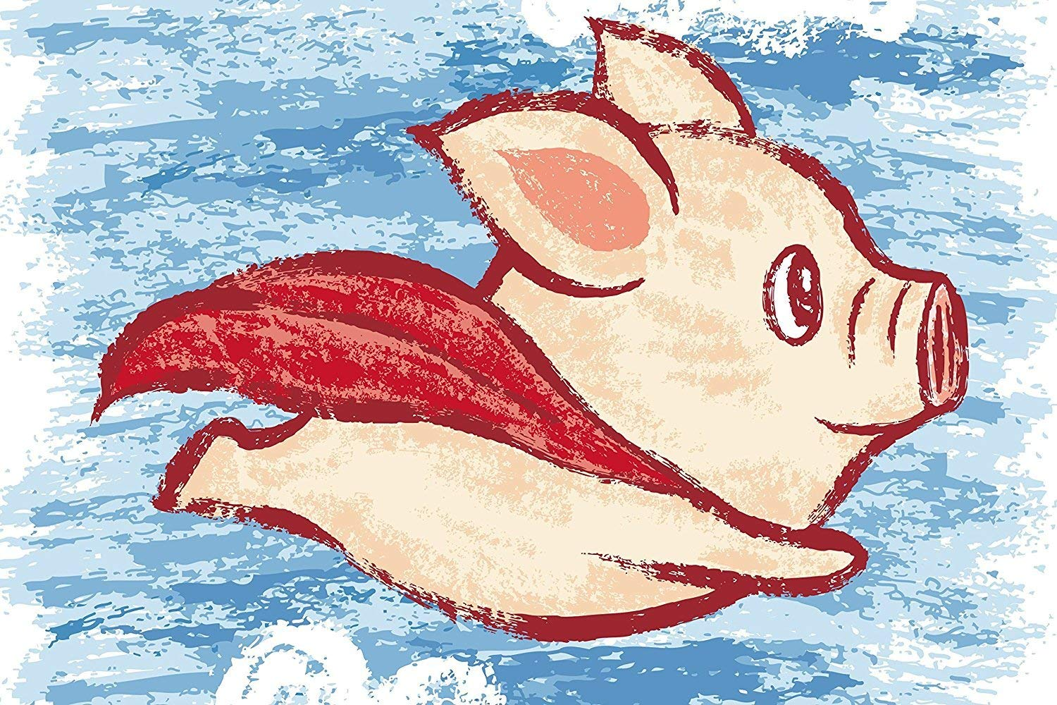 """60"""" x 80"""" Blanket Comfort Warmth Soft Plush Throw for Couch A Flying Pig Funny"""