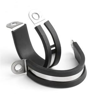 Heavy Duty Precision Rubber Coated Saddle Pipe Clamp