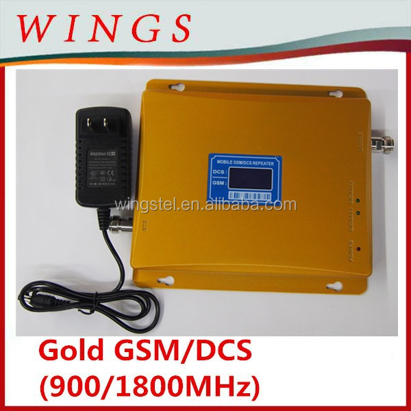 GSM Amplifier, Repeater and Cellular Enhancer gold Dual Band GSM/DCS 900MHz/1800MHz Mobile Signal Repeater 2016 New Model