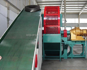 Factory direct sale full automatic waste tyre cutting machine /Waste Tyre Recycling /Rubber Powder Production Line
