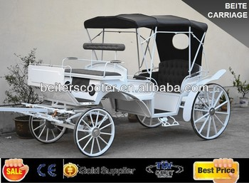 2014 French Romantic white princess wedding horse carriage/cart