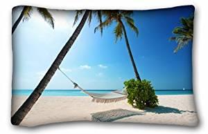Generic Boys' Nature Beaches sun beach hammock palm trees Nature Beaches 20x30 Inch