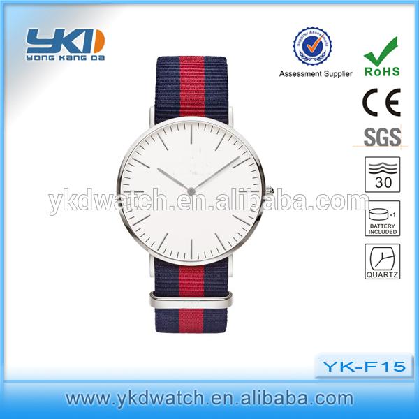f1a590274 Mujeres reloj de pulsera de moda reloj de correa de tela de nylon ...