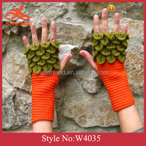 W4035 New personalized winter gloves custom fingerless gloves riding glove