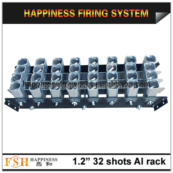 "China produced hot sale 1.2"" 32 shots aluminum fireworks display rack"