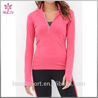 High Collar 86% Nylon 14% Elastane Thumb Holes Running Jacket Design Sports Wear
