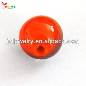 10mm Cheap Custom Design Pretty Red Recycled Plastic Beads In Nigeria