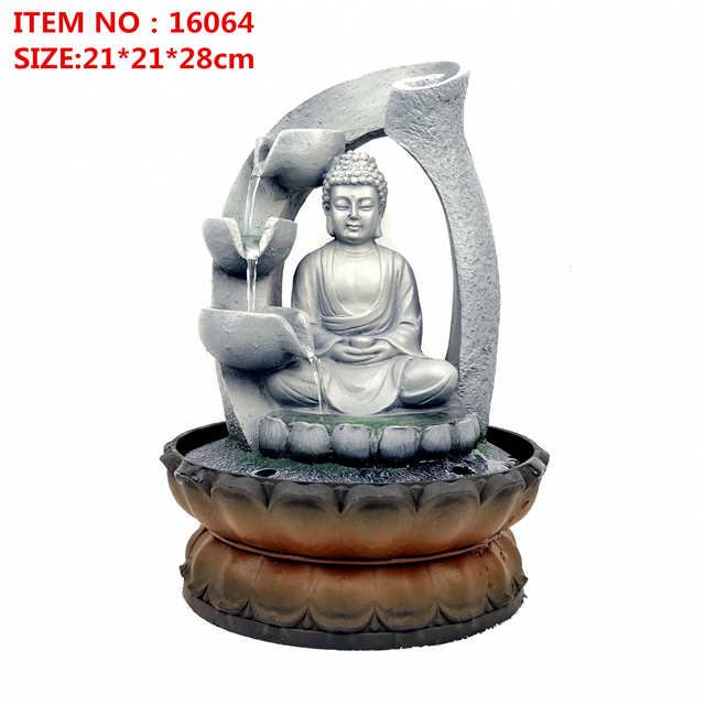 resin water fountain water southeast Asian Buddha placed crafts