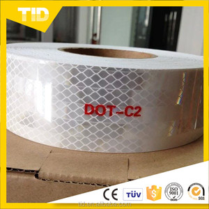 DOT-C2 white reflective tape for trucks and trailers