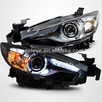 For MAZDA 6 for ATENZA LED Strip Head Lamps Angel eye headlght 2014-2015 year LD