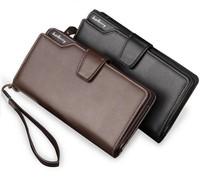 2017 Wholesale baellerry designer brand 21 cards holder 3 fold pu leather men's wallet
