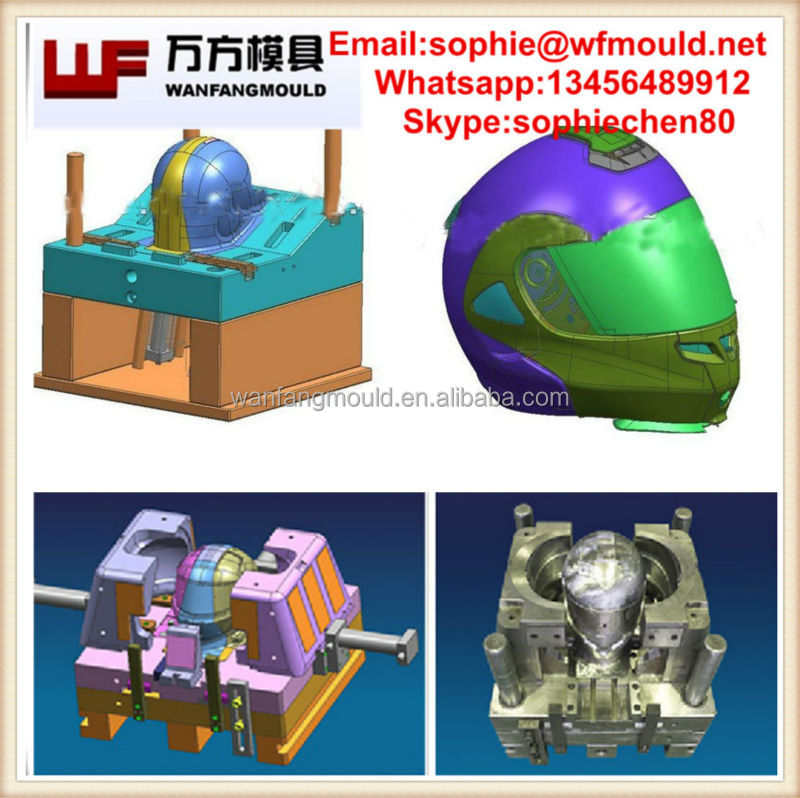Taizhou plastic Motorcycle helmet mould maker/china OEM motorcycle helmet parts injection mould