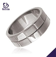 Stainless steel men's ring military ring