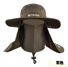 Outdoor Men Women Large Round Brim Sun Block Quick Drying Fishing Hats Summer Sun Cap For Travel Mountain Climbing Bucket Hat