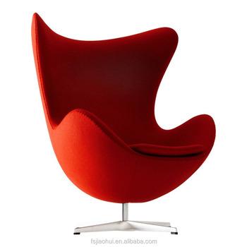 Fiberglass Shell Egg Chair Swivel High Back Lounge Chair For Living