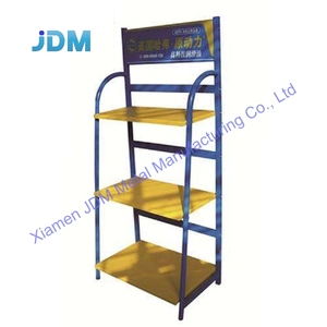 Custom made high quality car accessories and tire metal display shelf engine oil display rack motor oil display rack