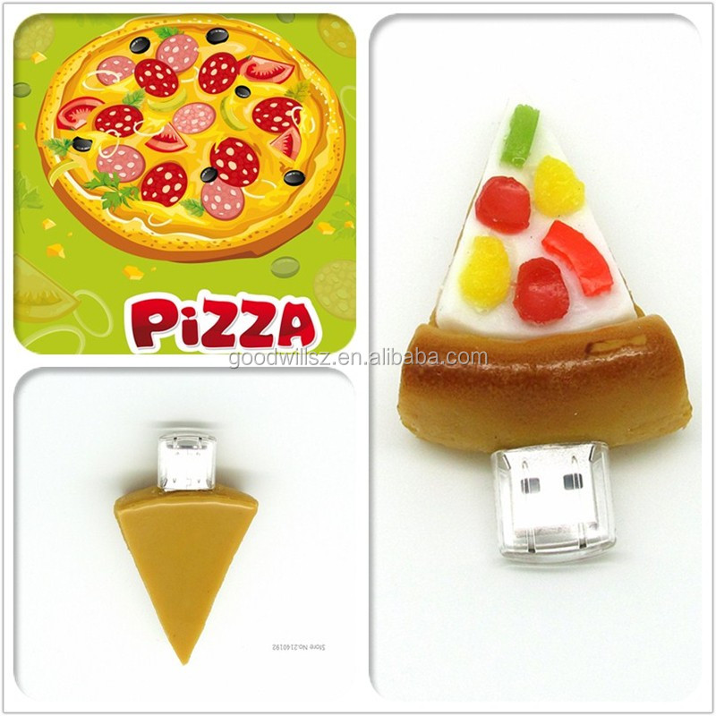 Manufacturers Custom Logo 2gb 4gb 8gb 16gb Pizza Shaped USB Pen drive Usb disck