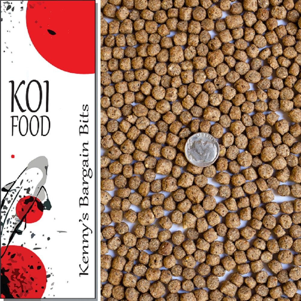 "America's Best Koi Food 50 lbs Fish Food Large 1/4"" Floating Pond Pellets for Koi Goldfish and Pond Fish - 32% Protein - Kenny's Bargain Bits - Net Weight: 50 lbs (22.8 kg)"