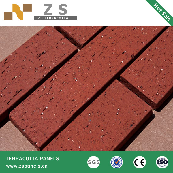 Decorative Outdoor Brick Tile Red Clay Exterior Clay Blocks Bricks