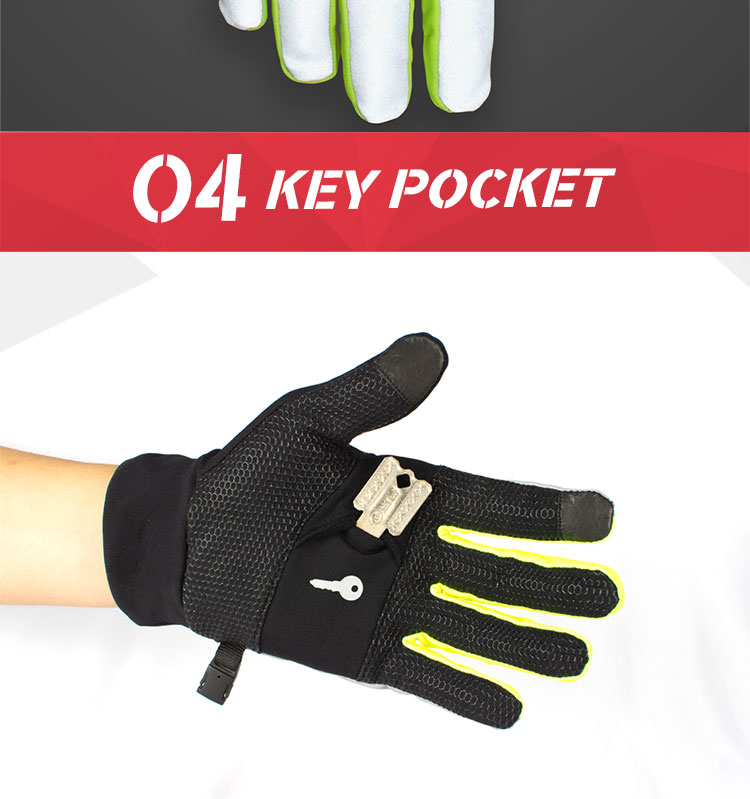 Hot selling cold weather outdoor sport gloves winter running thermal gloves with key pocket