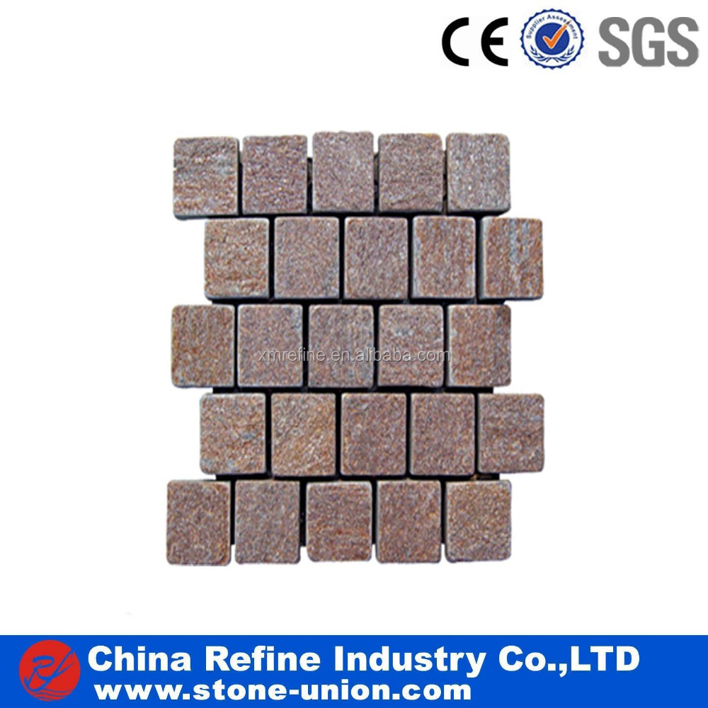 Natural Cheap Red Thin Flagstone Tumbled Slate