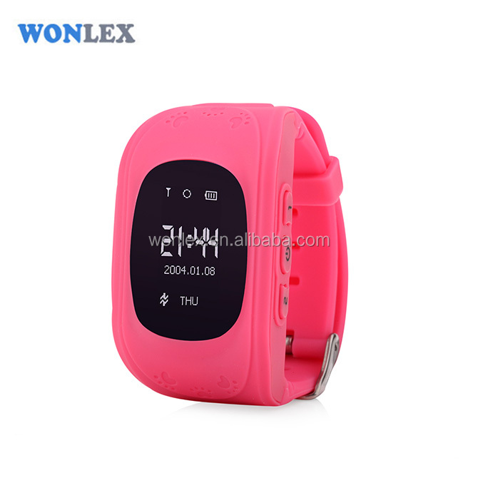Brand Wonlex Wrist Watch GPS Tracking Device smart kids micro gps container tracker device